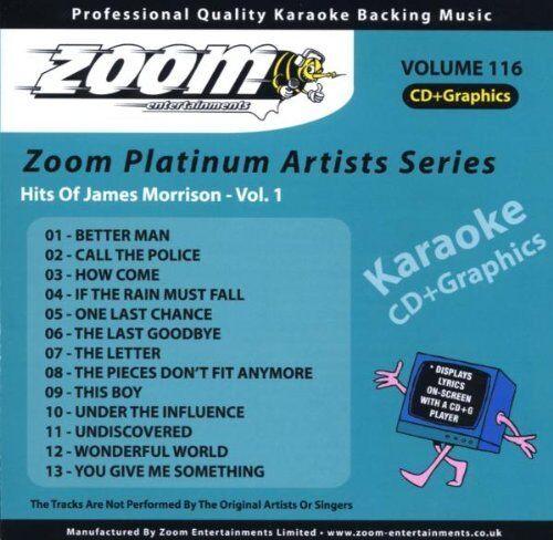 Zoom Karaoke Platinum Artists Vol. 116 CD+G - Hits Of James Morrison