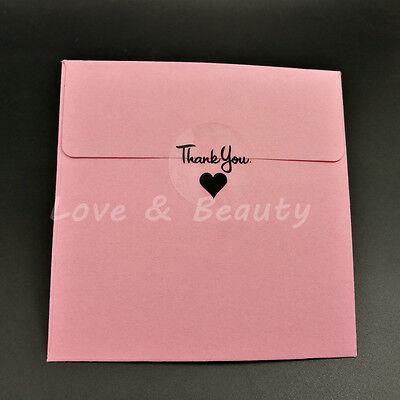 Transparent black thank you Baking Decoration label sticker Diy 204pcs