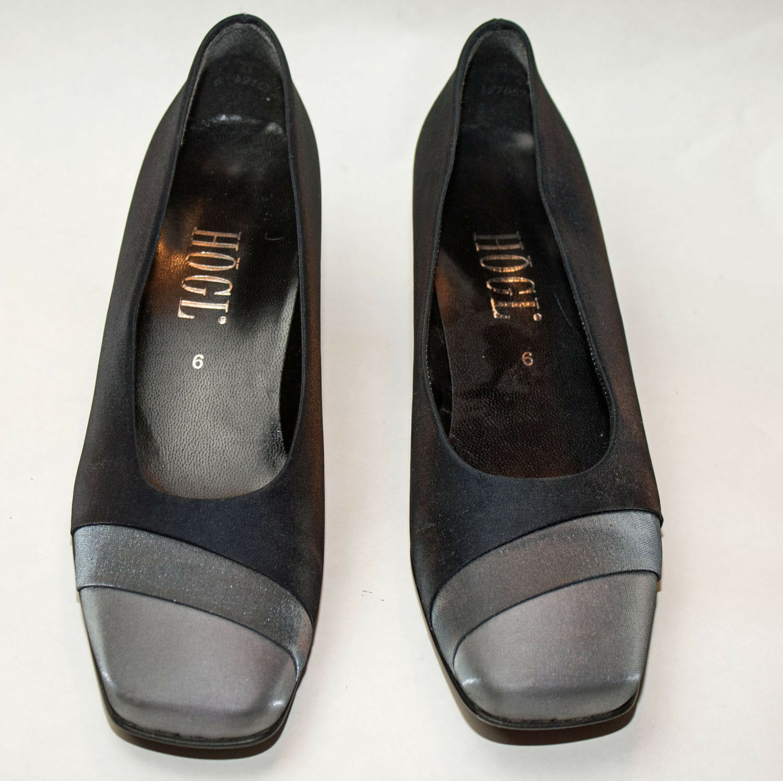 HÖGL ♥ Schuhe ♥ Pumps ♥ Gr. 6   38 ♥ TOPst ♥ nachtblau + silbertöne ♥  högl ♥