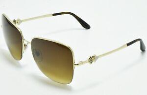 987834b286 NEW Bvlgari BV6077B 278/13 Sunglasses Gold Frame Brown Gradient ...
