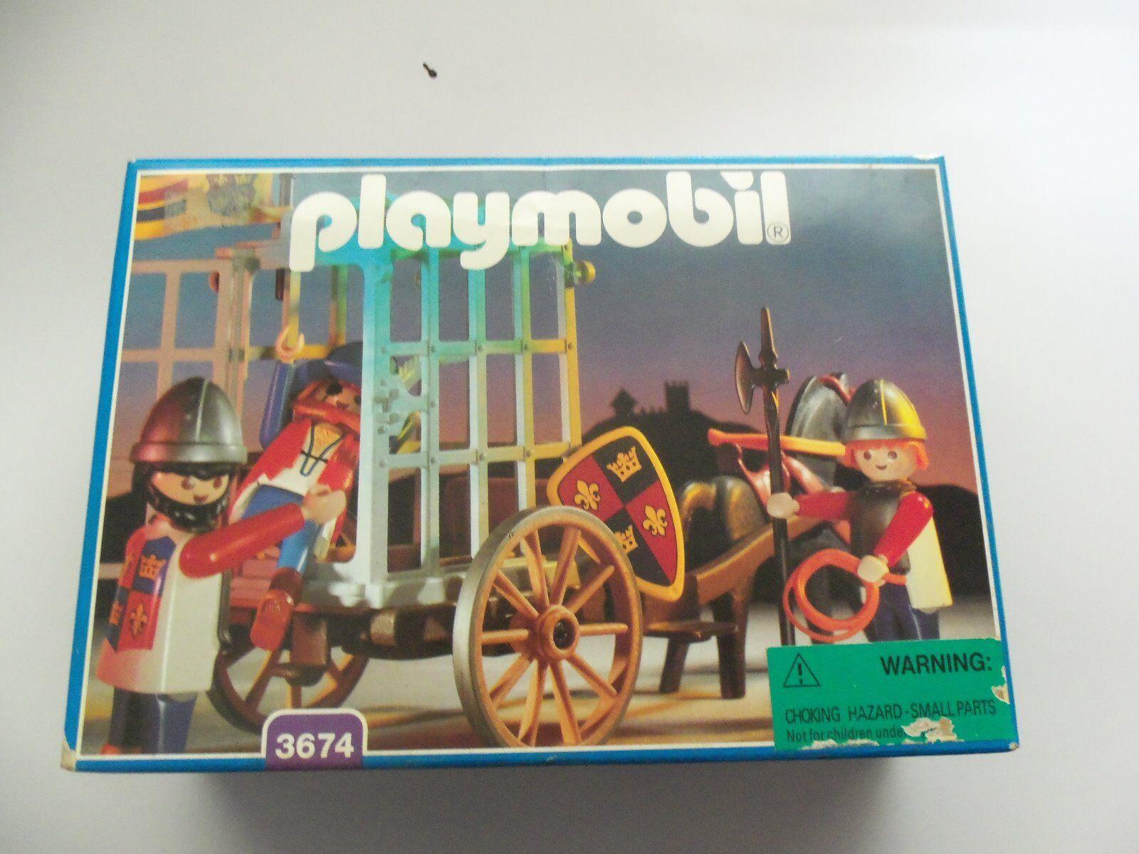 Playmobil  3674 Knights   prisoner Rare Collectors item Unopened Original Box