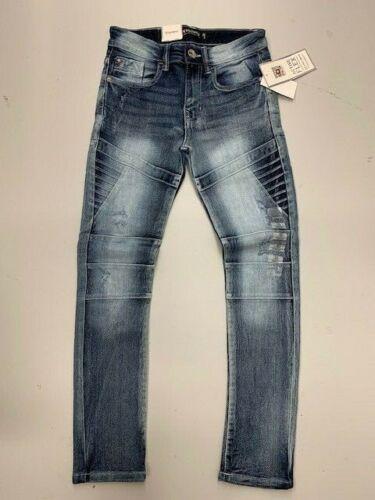 Southpole Big Kids Stretch Boy/'s Skinny Moto Jeans  Ice Blue Sizes 8-18