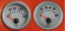 S4 Universal 52mm calibre de Presión de Aceite & Aceite Temperatura Ideal Para Coche Kit/proyecto/pista