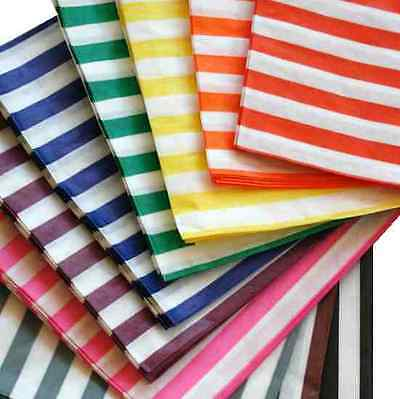 200 x CANDY STRIPE PAPER SWEET FAVOUR BUFFET BAGS - 5x7 INCHES