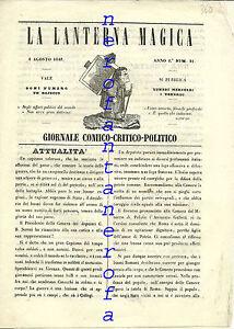 RARO-globo-aerostatico-La-lanterna-magica-giornale-comico-politico-1848-Satira