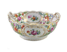 Dresden Carl Thieme for Bailey Banks & Biddle Reticulated Double Handled Bowl