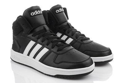 TOP ADIDAS HOOPS 2.0 MID Herrenschuhe Turnschuhe Sneaker HIGH TOP Schwarz BB7207 | eBay
