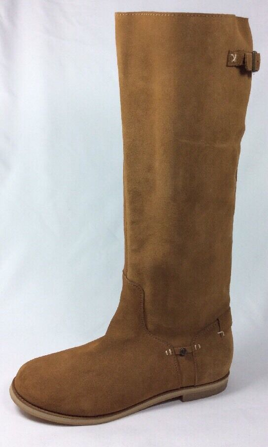 REEF High dessert women boot knee tall chesnut suede leather round toe Sz. 9 new