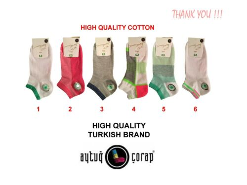 Ladies Trainer Ankle Socks Multi Selection Cotton Rich Organic Socks Products