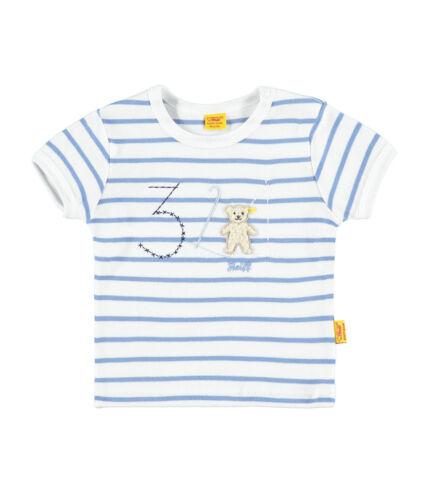 /%/%/% STEIFF Newborn Summer Colours Shirt Bleu Rayé Taille 56-86 NEUF/%/%/%