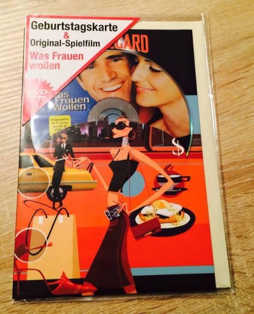 """Moviecard Glückwunschkarte mit DVD """"Was Frauen wollen"""""""