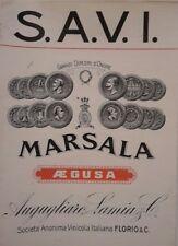 Augusta vecchia etichetta marsala Agugliaro Lamia & C. rara vedi...