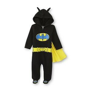 deb454c79274 DC Comics Batman Newborn Boy s Caped Footed Pajamas New Born