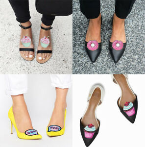6ce3d2e972 Shoe clips Donut, Muffin, Cupcake real glitter and leather, shoe ...