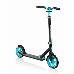 Globber NL 500-205 Lightweight Foldable 2-Wheel Kick Scooter, Black and Teal