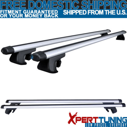 Fit For 48 Inch Aluminum Adjustable Top Roof Rack Cross Bars Carrier 120CM