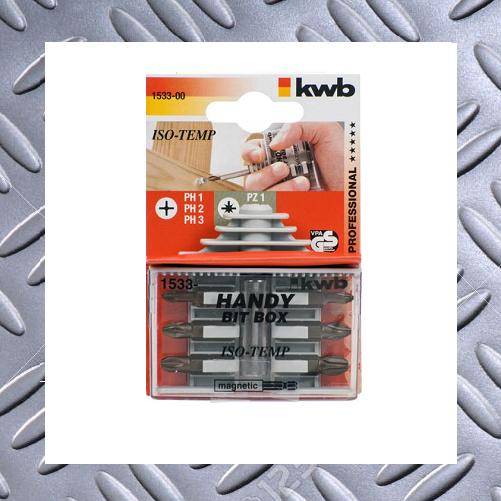 1531-00 PH PZ kwb Bit Satz Iso-Temp Handy Bitbox Magnet Bithalter 7tlg