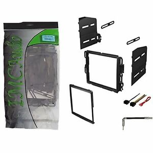 Double-Din-Dash-Kit-Stereo-Radio-Installation-Install-Kit-w-Wire-Harness-Antenna