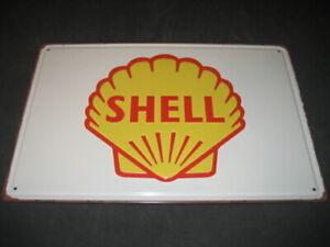 Tin Sign Oils Lubricants Petrol Shell