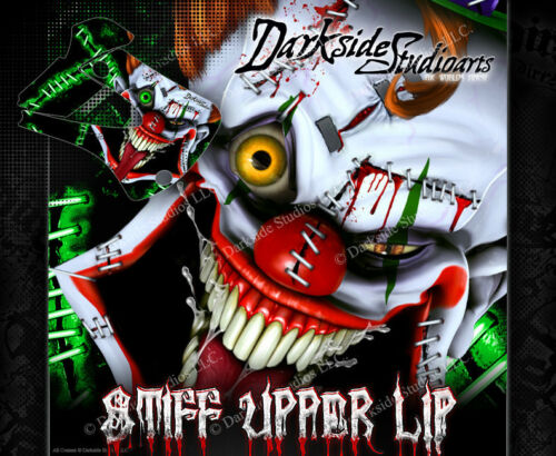 "KAWASAKI 1994-2016 KX80 KX85 KX100 /""STIFF UPPER LIP/"" GRAPHICS WRAP CLOWN DECALS"
