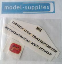 Corgi 1101 Carrimore car transporter reproduction decal set - blue