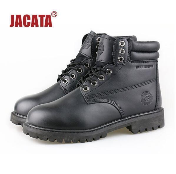 Jacata Men's Winter Snow Work Boots shoes 6  Premium Waterproof Leather 8601