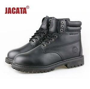 "Jacata Men's Winter Snow Work Boots Shoes 6"" Premium Waterproof Leather 8601"
