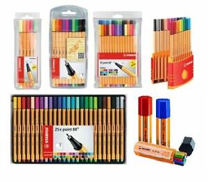 Stabilo-Point-88-Fineliner-Drawing-Art-0-4-Pens-Neon-Colours-All-packs