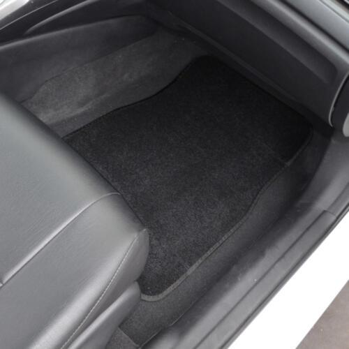 Auto Floor Mats for Car Classic Carpet w// Heelpad Black 4 Pieces Front /& Rear