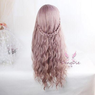 Harajuku Lolita Party Cosplay Long Wavy Curly Fluffy Mix Wig Hair W/ Bang Fringe