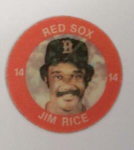 JIM-RICE-RED-SOX-1984-7-11-SLURPEE-3-D-COIN-LOT-OF-2
