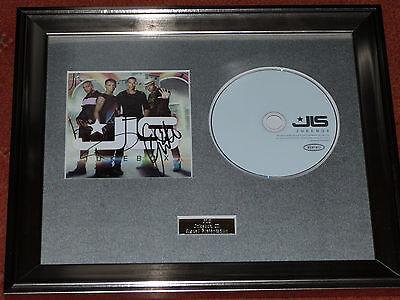JLS JLS CD PERSONALLY SIGNED//AUTOGRAPHED FRAMED PRESENTATION.ASTON MARVIN JB