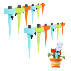 12Pcs Plant Self Watering Adjustable Stakes Automatic-Spikes Irrigation System