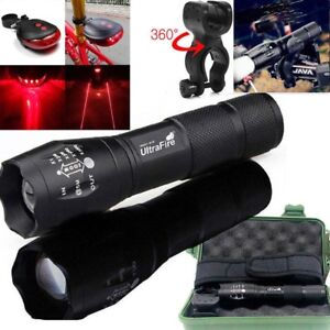 Tactical-Ultrafire-50000Lumens-T6-LED-Zoomable-18650-Flashlight-Torch-Lamp-UK
