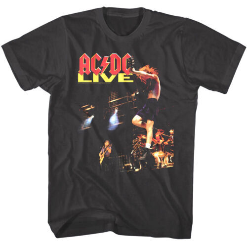 ACDC Live in Concert Mens T Shirt Vintage Metal Rock Band Album Tour Music Merch