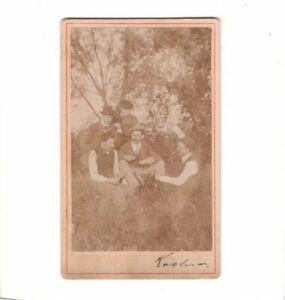 CDV-Foto-Maenner-beim-Kartenspiel-um-1900