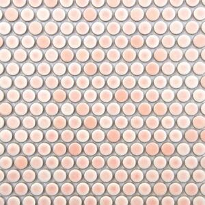 Details About SAMPLE   Pink Penny Round Mosaic Tile For Wall U0026 Floor