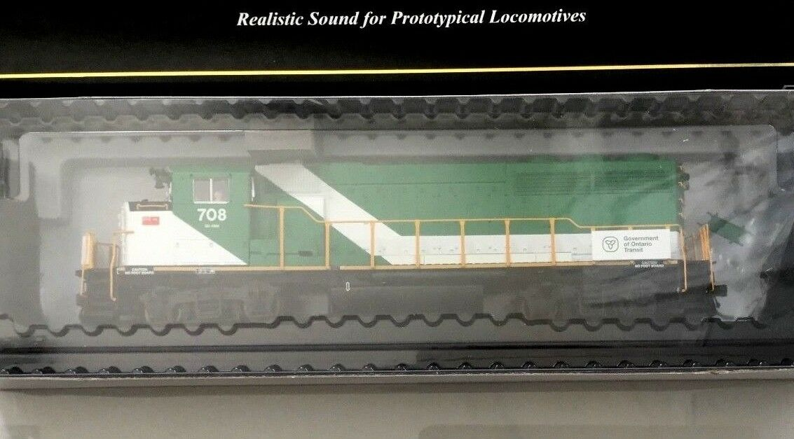 ATLAS 1 87 HO SCALE SCALE SCALE GO TRANSIT GP40-2(W) ROAD   708 DCC & SOUND   10001423 F S ce7618