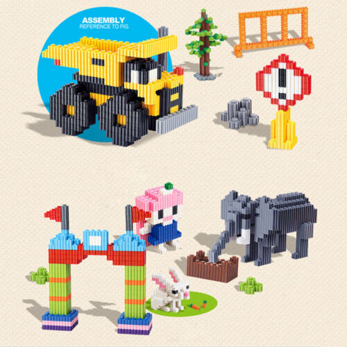 200X Plastic Building Blocks Bricks Children Kids Toys Puzzle Educational  OD
