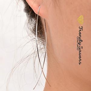 1-Pair-Trendy-Simple-Women-039-s-Silver-Long-Wire-Fish-Punk-Drop-Dangle-Earrings
