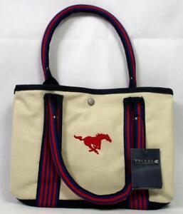 5677ecea0255 Details about Southern Methodist Mustangs Ladies Canvas Tote Bag Purse  Handbag SMU Fan C-6