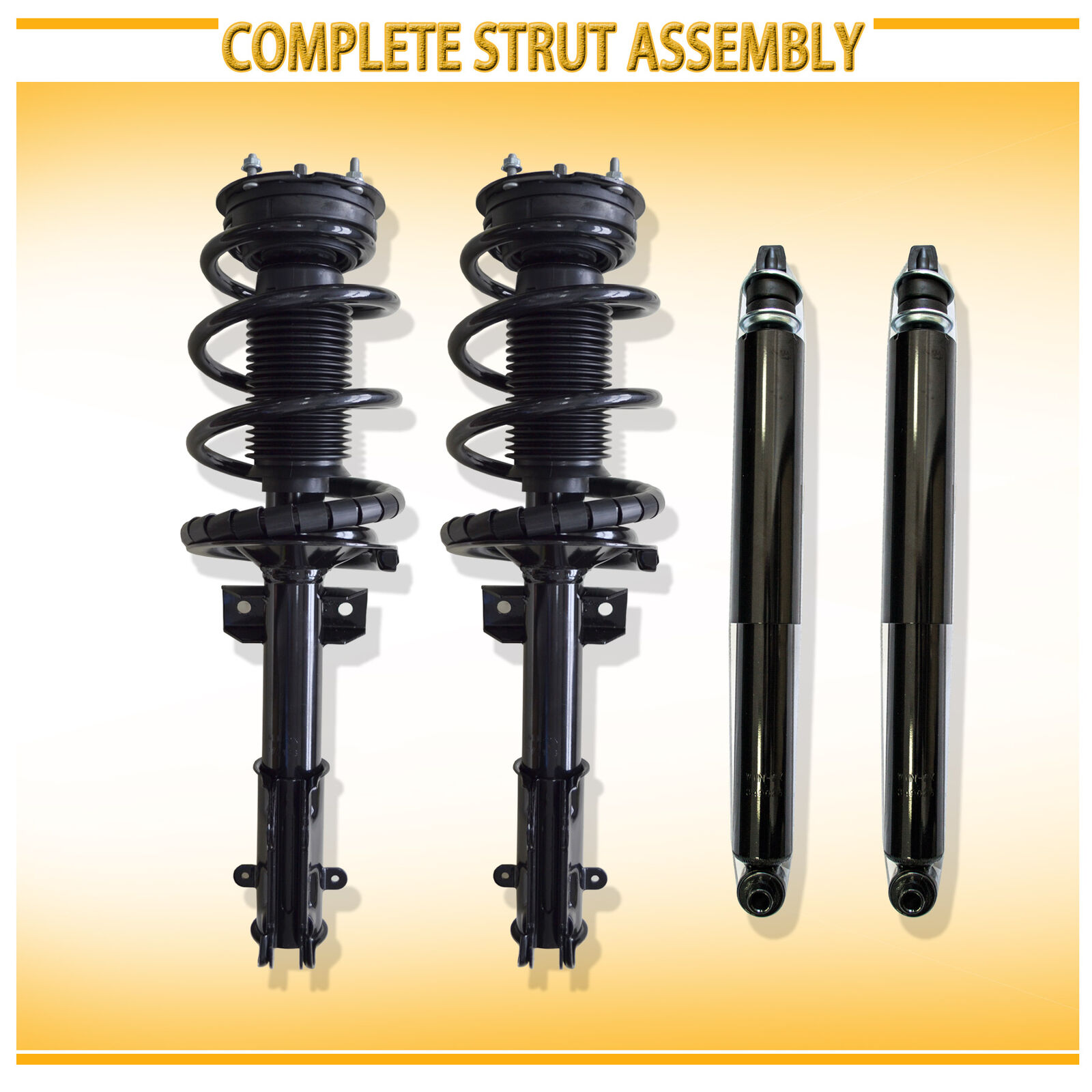 Pair Set of 2 Front Monroe Strut and Coil Spring Kit For Toyota Sequoia 01-07