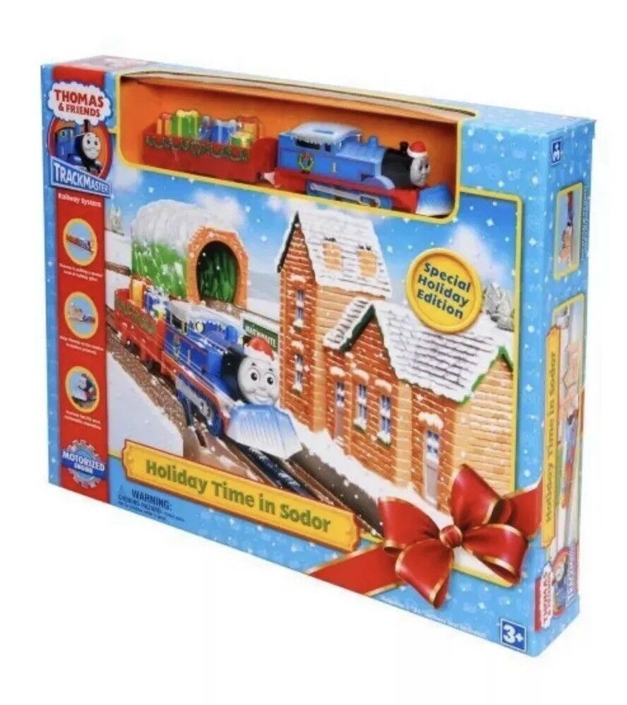 Thomas and Friends Holiday Time in Sodor Motorized Tank Engine 2008 Train Set