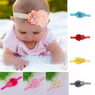 Beautiful Baby Girls Chiffon Pear Headband Hairbow Head Wear Flower Hairband