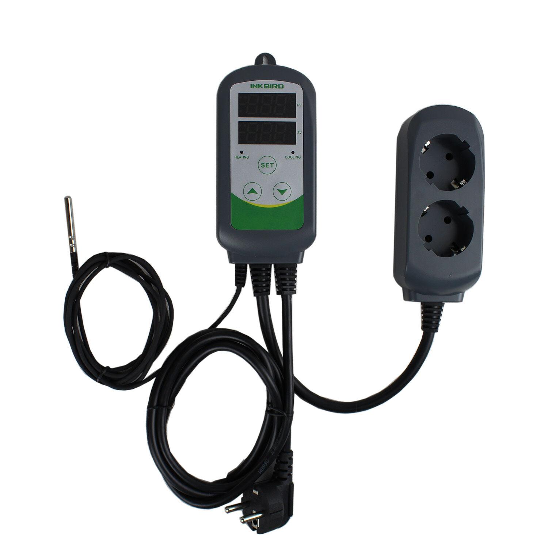 Digital Temperature Controller 110V Thermostat 1000W EU Plug w/ Sensor  #20602F