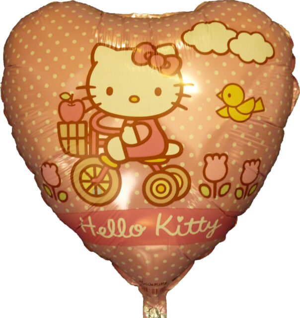 "Hello Kitty Holographic 18/"" Heart Shape Foil Helium Party Balloon"