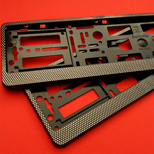 2 X Soporte para anillos de efecto carbono número de placa Placa Marco Soporte para Coche Tuning