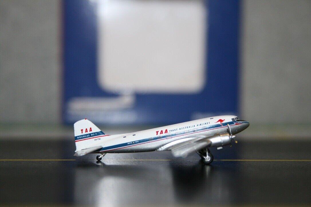 Jc Wings 1 400 TAA Trans Australia Douglas DC-3 C-47 VH-Tai (JC4134) modelo de avión