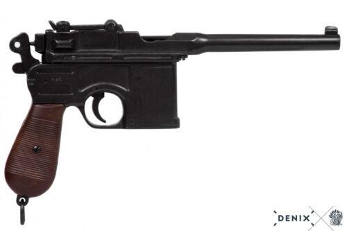 Pistola Mauser C96 in metallo 32 cm Germania 1896 reenactor 1ma guerra mondiale