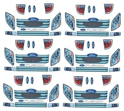 Just Ford Fusion Headlight And Tailights 1/64th Ho Scale Slot Car Decals Pleasant To The Palate Toys & Hobbies
